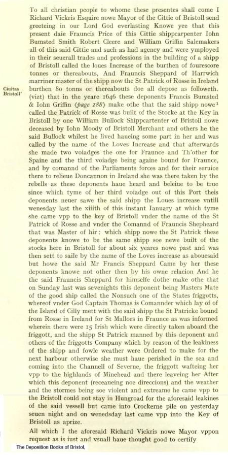 Francis Shepherd 1646